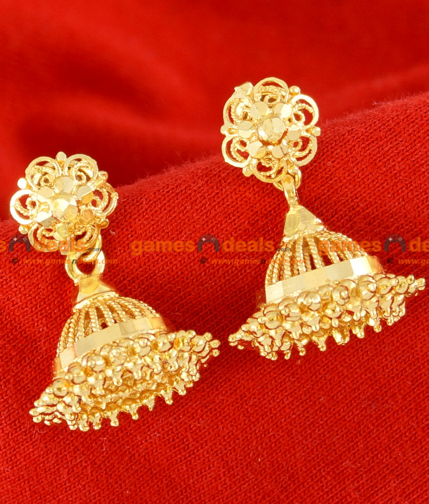 ER059 - Pure Gold Plated Imitation Ear Rings Traditional Jhumki