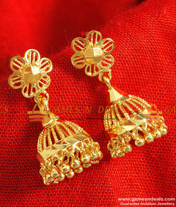 ER083 - Traditional South Indian Jhumki Trendy Design Imitation Ear Rings