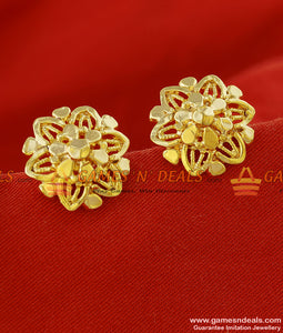 ER151 - Medium Size Six Petal Traditional Wear Flower Stud Imitation Design