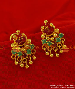 ER188 - Latest Teen Design Gold Plated Stone Ear Ring Jewelry Guarantee Design