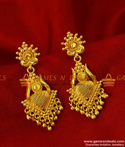 ER238 - Traditional Long Net Type Gold Plated Ear Ring Imitation Jewelry Online