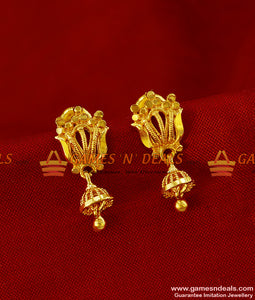 ER248 - Daily Wear Teen Girls Trendy Design Imitation Gold Plated Ear Rings
