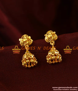 ER297 - South Indian Jhumki Trendy Small Design College Girl Daily Wear Ear Rings