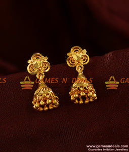 ER308 - South Indian Jhumki Trendy Small Design Guarantee Daily Wear Ear Rings