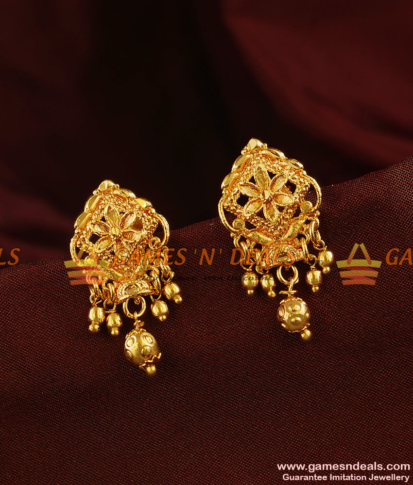 ER357 - South Indian Kerala Type Daily Wear Trendy Small Jhumki Buy Online