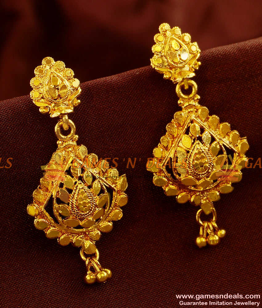 ER485 - Traditional Long Danglers Type Gold Plated Ear Ring Imitation Jewelry Online