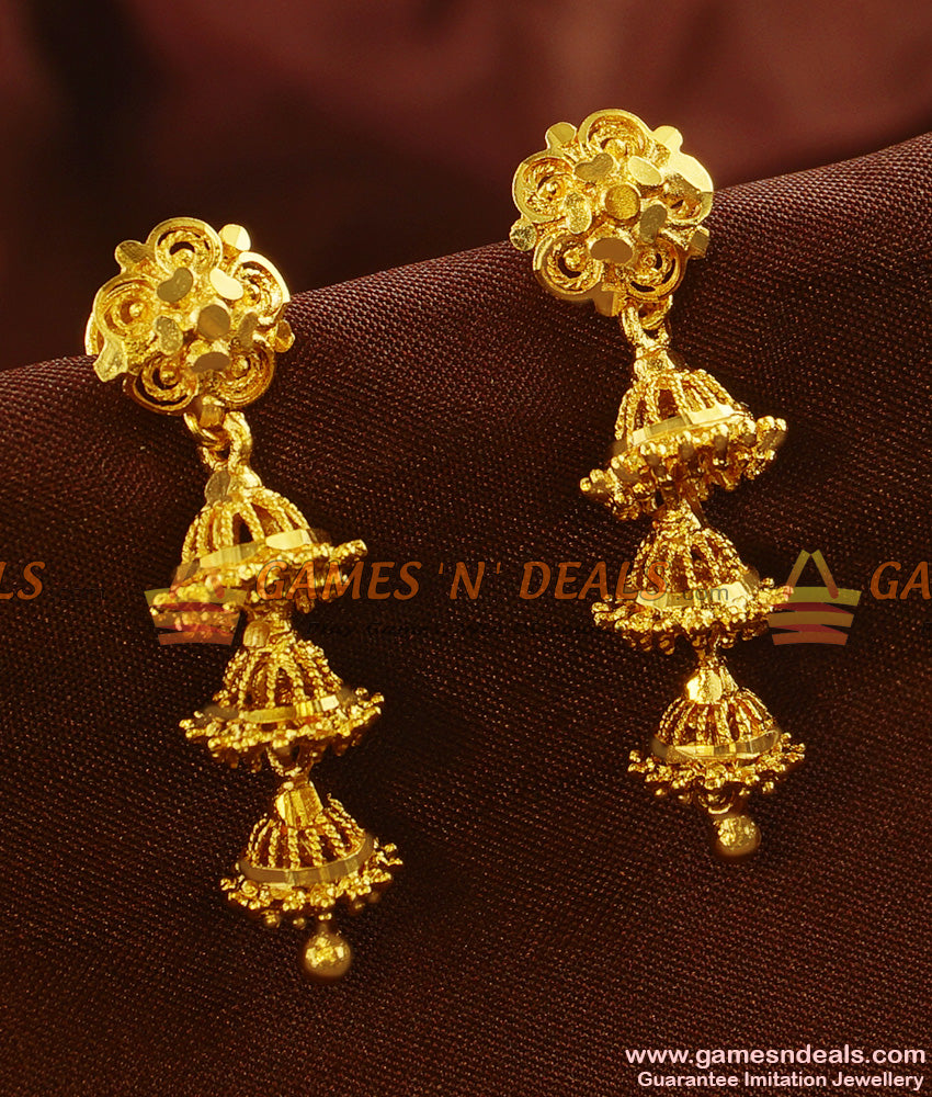 ER487 - Traditional Aduku Ear Ring Long Danglers Type Imitation Jewelry Online