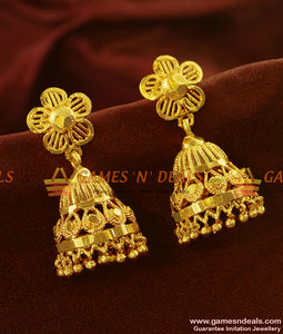 ER523 - Best Selling Traditional Medium Sized Umbrella Jhumki Online