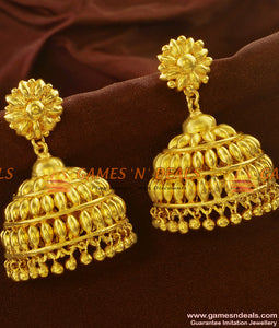 ER595 - South Indian Umbrella Design Very Big Jhumki Bridal Imitation Wear Ear Rings