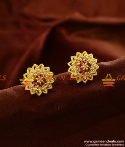 ER631 - Attractive Flower Stud Zircon Stone Guarantee Ear Rings Low Price Online