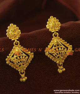 ER659 - Plain Danglers Six Months Guarantee Imitation Jewelry Earrings Online