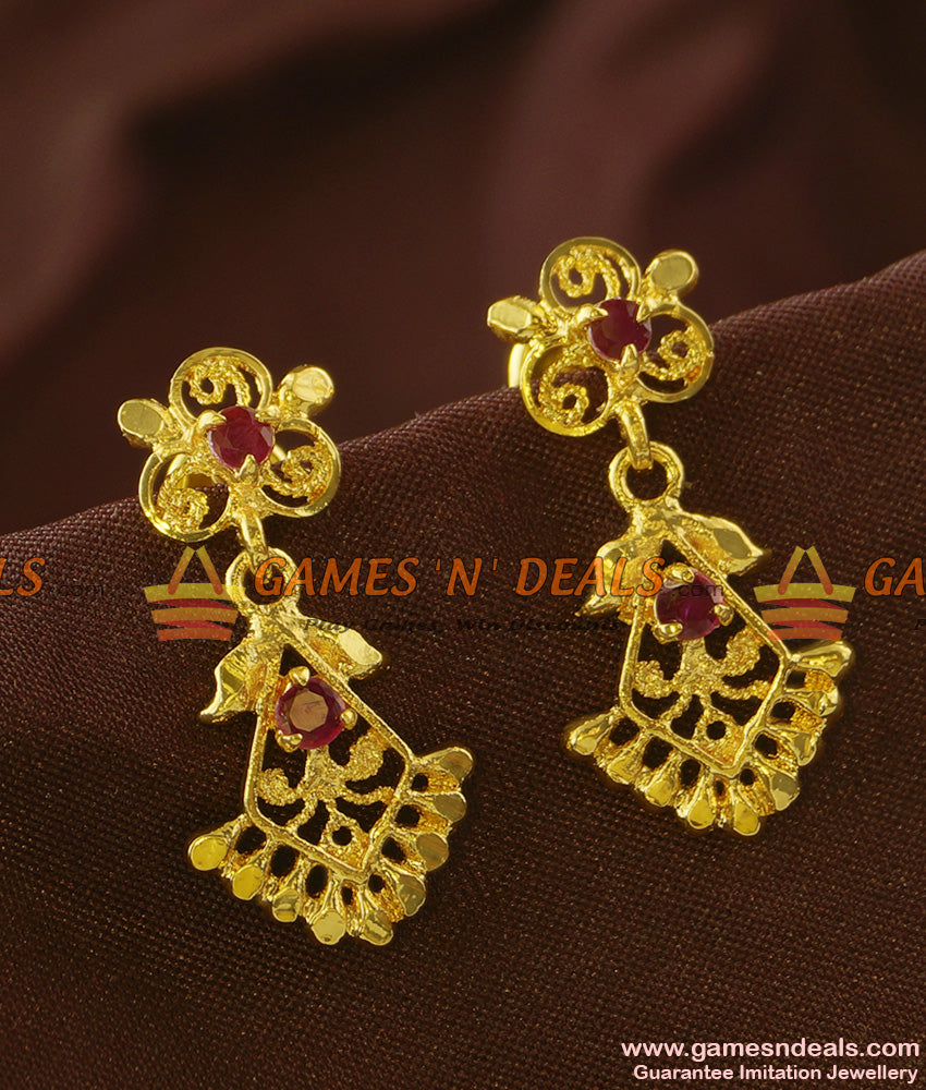 ER719 - Handmade Unique AD Stone Dangler Guarantee Imitation Earring