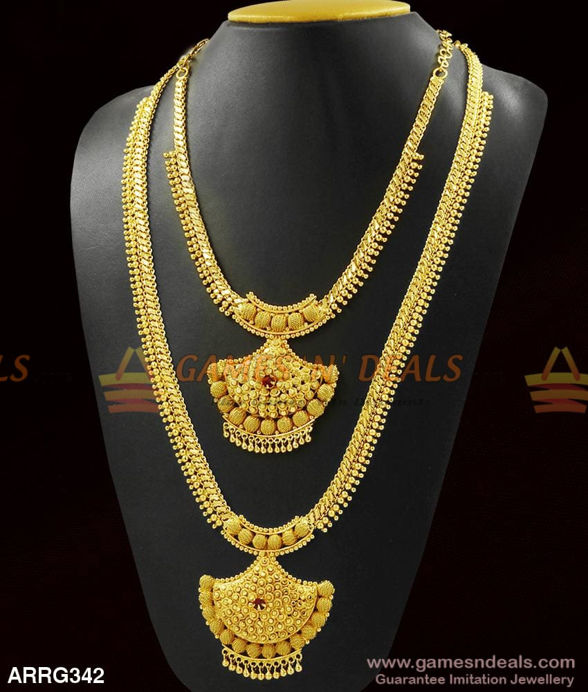 Grand And Heavy Jewelry Bridal Haaram Necklace Combo Best Quality Online 1 Year Long