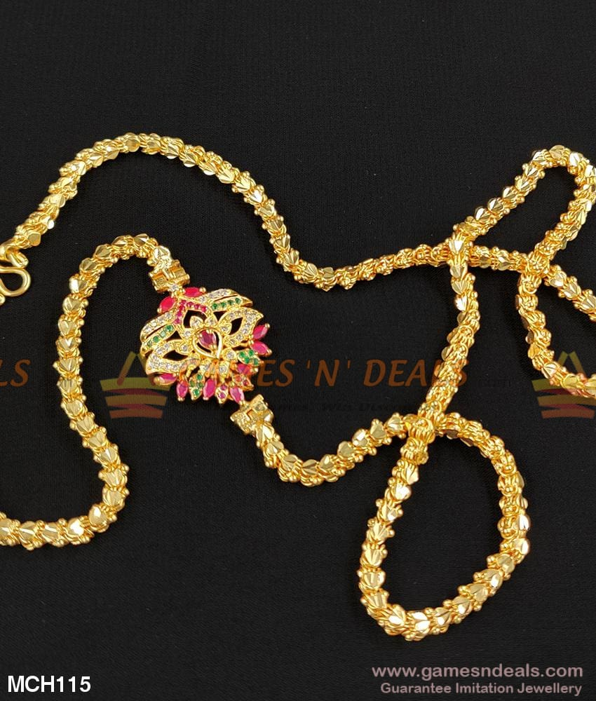 Grand Side Pendant For Daily Use 24 Inches Mugappu