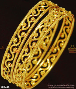Guarantee Gold Design Plain Bangles For Women Marriage And Family Functions 2.4 Bangle