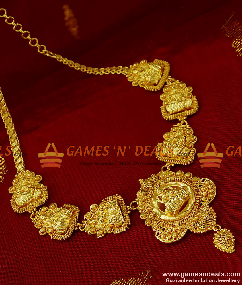 NCKN201 - Exclusive Hand made Temple Jewelry Gold Plated Lakshmi Design