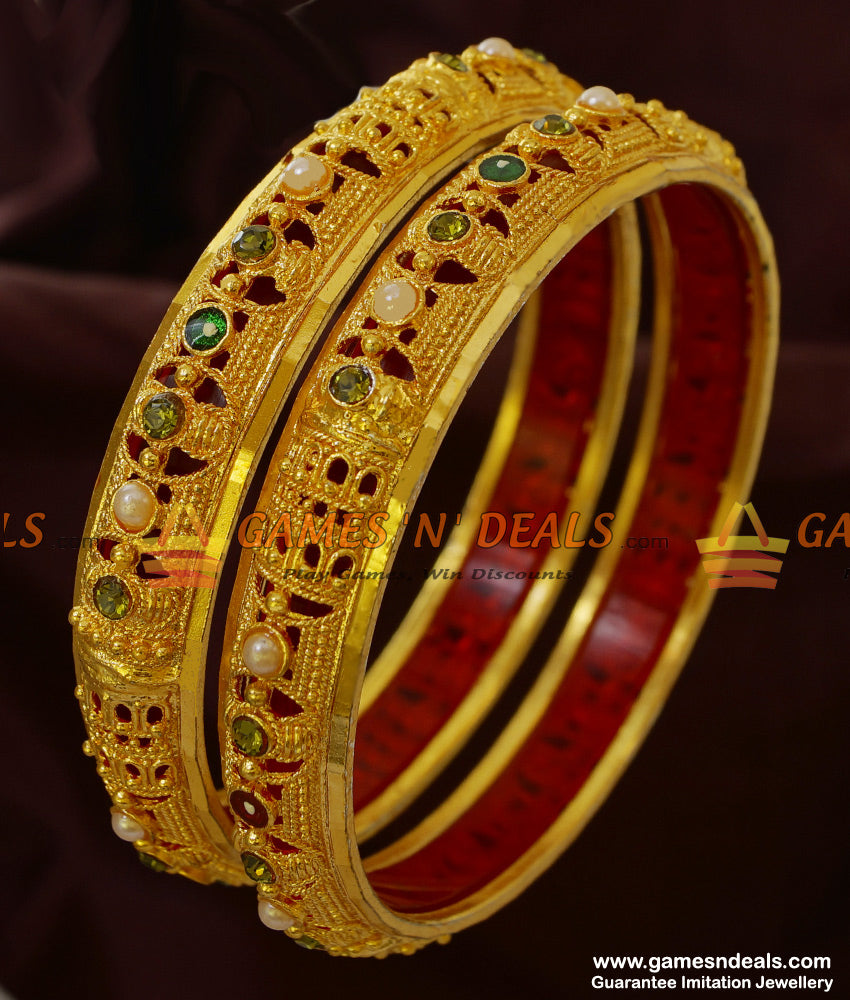 Set of Two Enamel Design Bangles