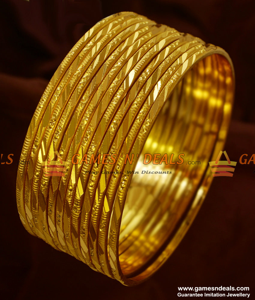 Thin 12 Pieces South Indian Bangles