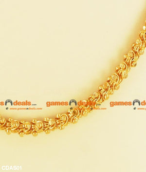 South Indian Gold Plated Kerala Jasmine Daily Wear Design Chain