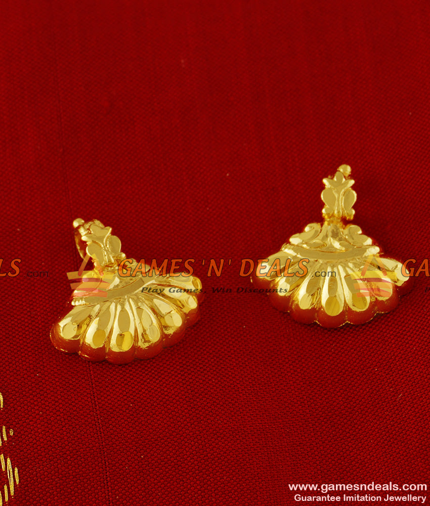 THAL13 Gold Plated Imitation Jewelry Thali Visiri Set Design For Traditional Thali