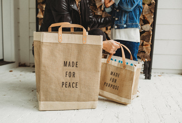 Made for Peace Market Bag by Apolis