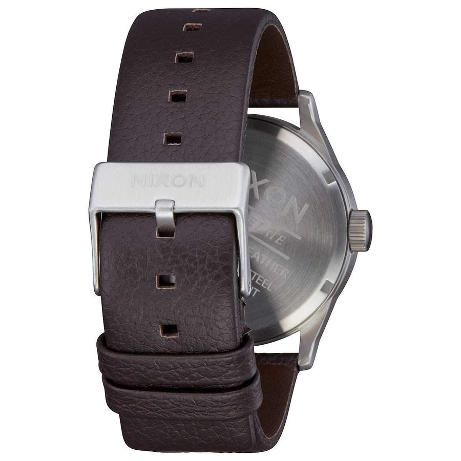 Nixon Sentry Leather 42MM DARK CEDAR-BROWN