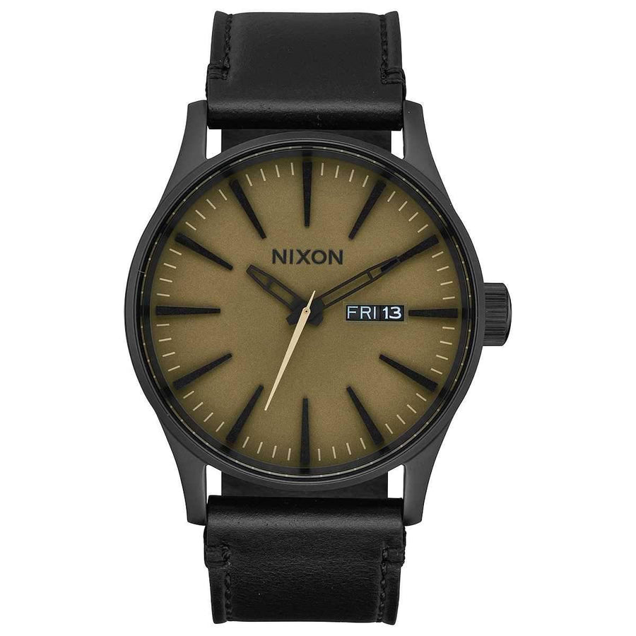 Nixon Sentry Leather 42MM BLACK-SAGE