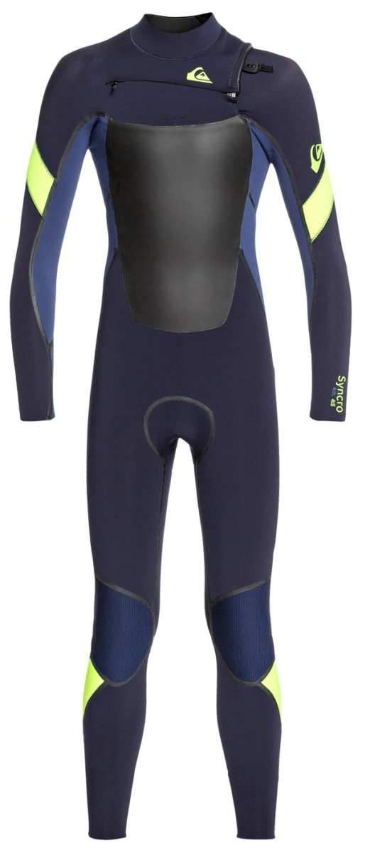 Quiksilver Boys Syncro 4/3 Chest Zip LFS