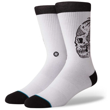 Stance Mens Skull Palm Socks - White