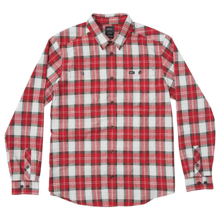 RVCA Mens Bone Flannel