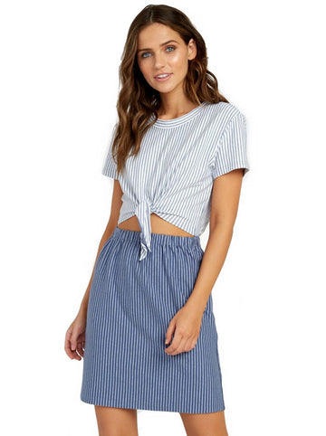 RVCA Fade Out Striped Knot Dress