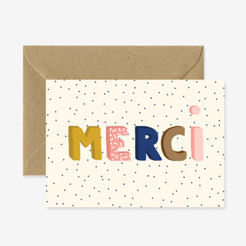 Carte Merci petits points