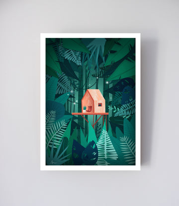 Atmospheric Pillow - Affiche Le Refuge de la jungle