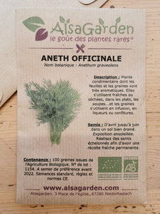 Aneth officinale bio