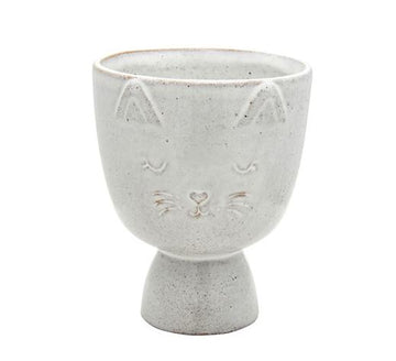Cache-pot Chat ciment ⌀11.5cm