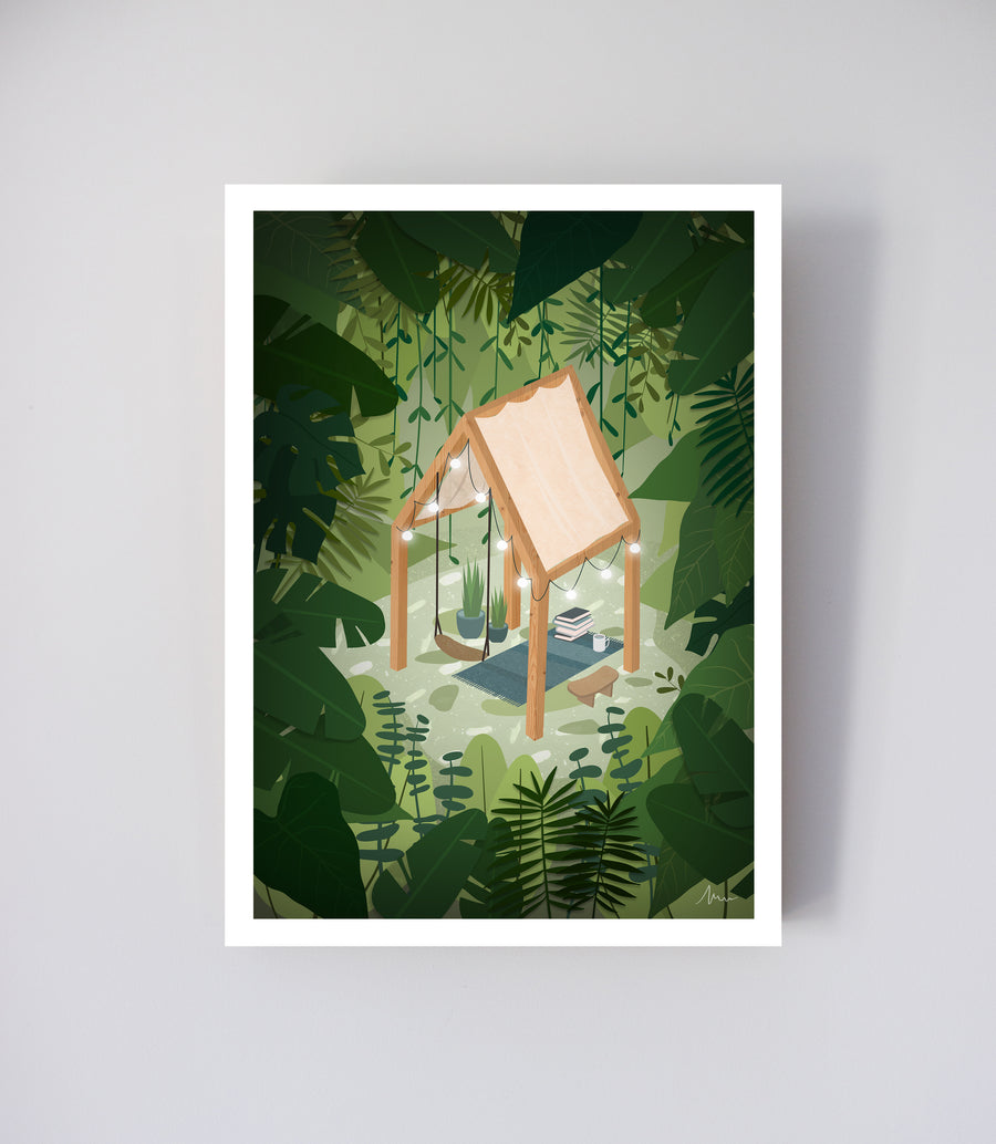 Atmospheric Pillow - Carte Bulle de jungle