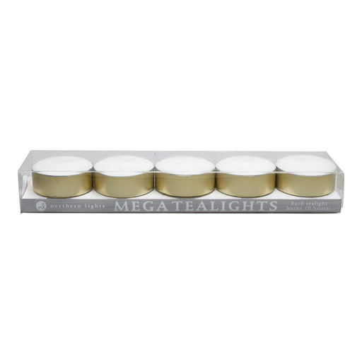 Mega Tealights - 5pc - Northern Lights Wholesale