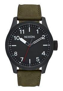 NIXON SAFARI LEATHER ALL BLACK