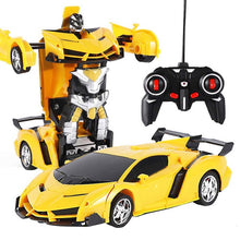 Load image into Gallery viewer, Transforming Robot Car 2.4 GHz Remote Control Toy 360 Degree Rotating One Button Transform RC Car