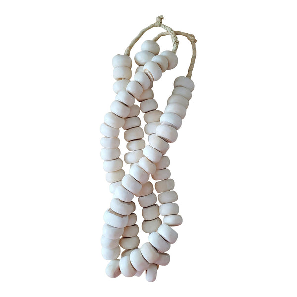 African Bone Bead Strands, 2 Piece