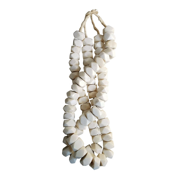 Geometric Bone Bead Strands, 2 Piece
