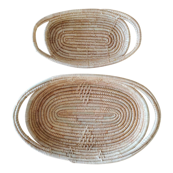 African Coil Basket Bowls, 2 Piece