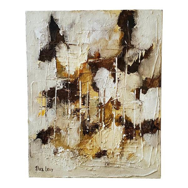 "Original ""Elva Levy"" Abstract Canvas Painting"
