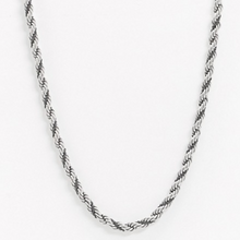 Load image into Gallery viewer, Shiny Silver Tone Rope Chain