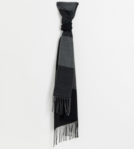 Charcoal and Black Scarf