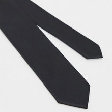 Load image into Gallery viewer, Black Satin Tie