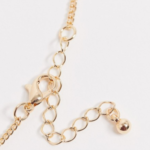 Gold Tone Poker Chip Chain