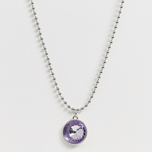 Load image into Gallery viewer, Silver Tone Chain with Crystal Gem Pendant