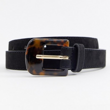 Load image into Gallery viewer, Turtle Shell Buckle Black Belt