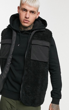 Load image into Gallery viewer, Black Teddy Vest